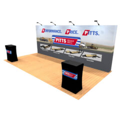 10ft x 20ft tension fabric pop up display