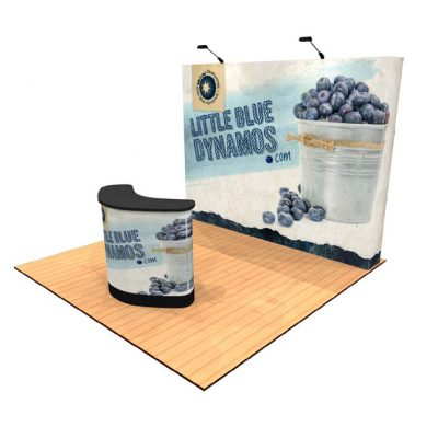 10' Tension Fabric Pop Up Display With Premium Counter