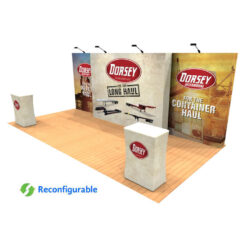 10ft x 20ft tension fabric pop up display kit