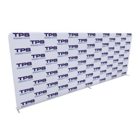 20ft tension fabric step and repeat media backdrop