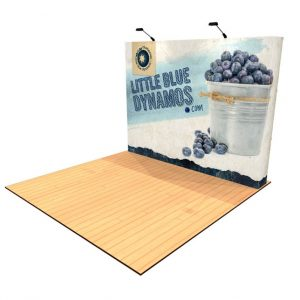 10' tension fabric pop up display