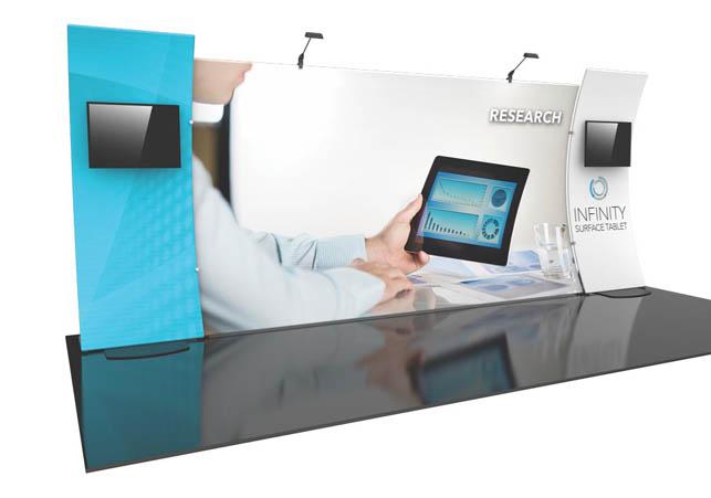 Formulate Designer Series 20′ Tension Fabric Display Kit 12