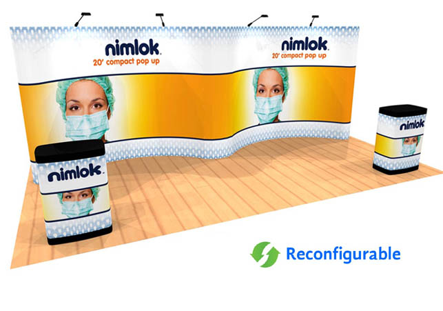 10' x 20' graphic pop up trade show display