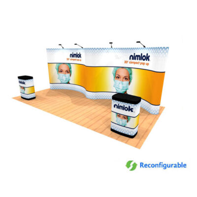 10ft x 20ft graphic pop up trade show display