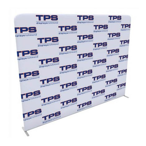 10ft tension fabric step and repeat media backdrop