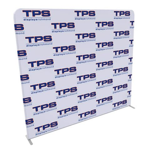 8ft tension fabric step and repeat media backdrop