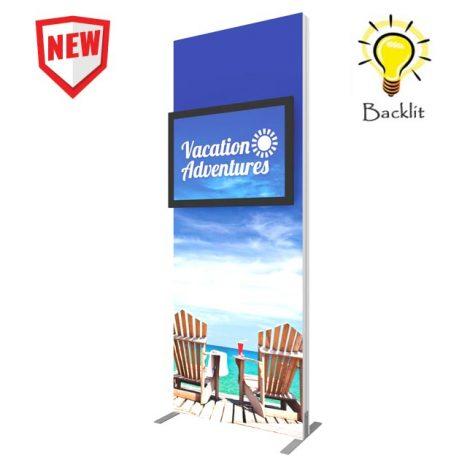backlit monitor kiosk