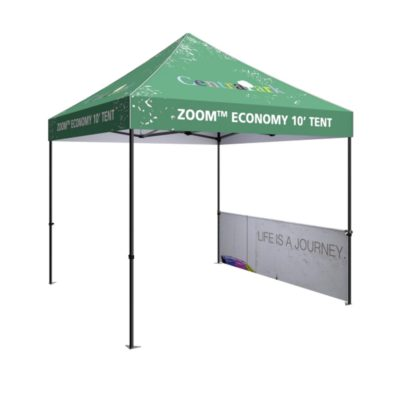 printed 10ft pop up tent half wall