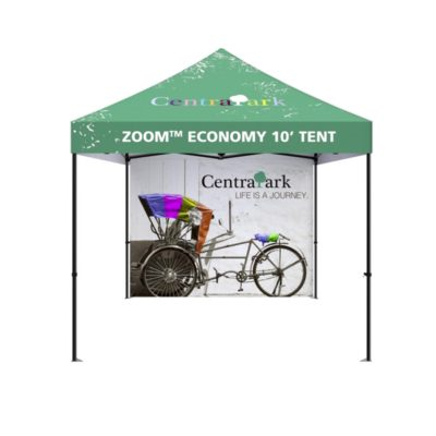 printed 10ft pop up tent back wall