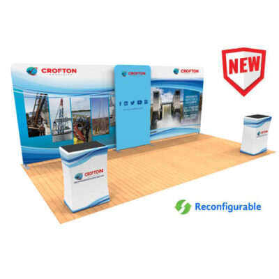 20ft tension fabric display with counters