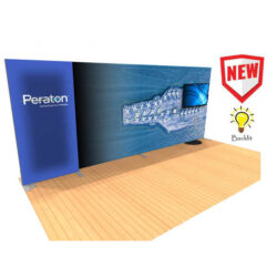20ft tension fabric display with lightbox