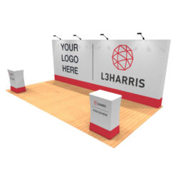 20ft tension fabric pop up display