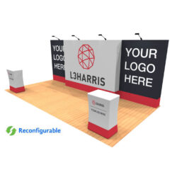 20ft tension fabric pop up display kit