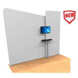 symmetry monitor mount with shelf