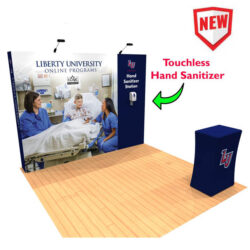 10ft Pop Up Display with Hand Sanitizing Station