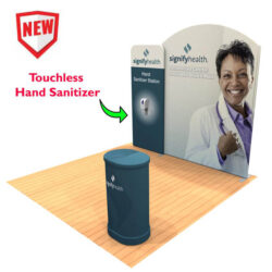 10ft Tension Fabric Display with Hand Sanitizer Kit 3