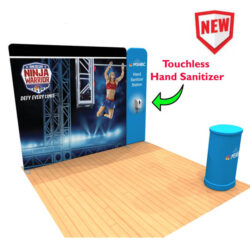 10ft Tension Fabric Display with Hand Sanitizer Kit 4