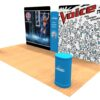 20ft Tension Fabric Display with Hand Sanitizer Kit 1 Angle