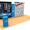 20ft Tension Fabric Display with Hand Sanitizer Kit 1 full